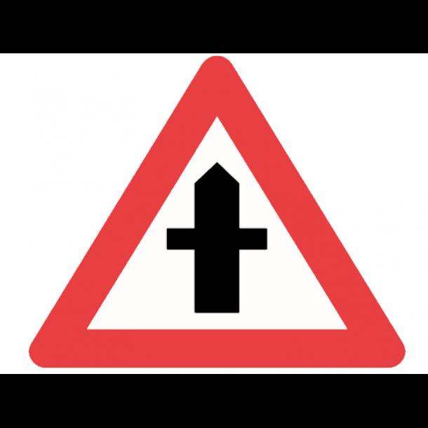 A11, advarselstavle 90 cm, Farligt vejkryds