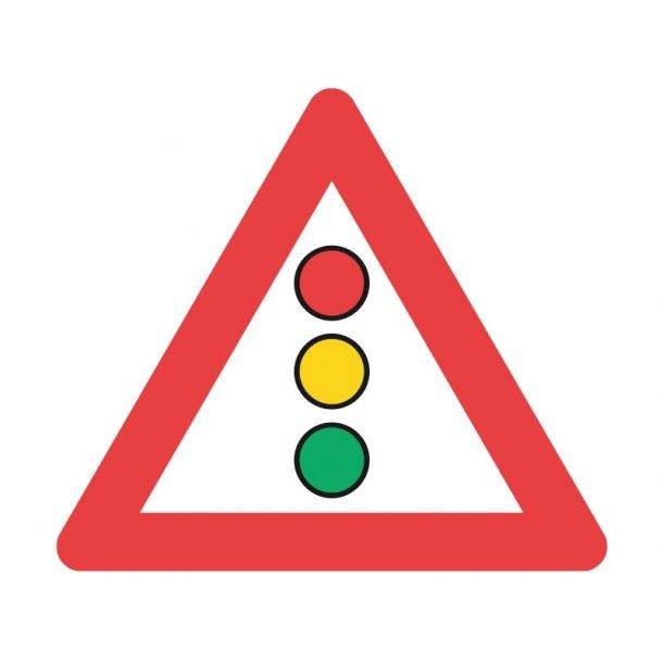 A19 vejskilt 90 cm. Lyssignal advarselstavle