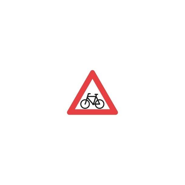 A21 vejskilt 90 cm Cyklister advarselstavle