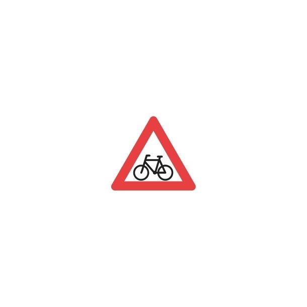 A21 vejskilt 70 cm. Cyklister advarselstavle