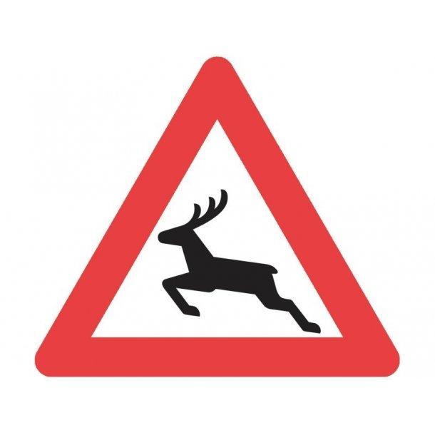A26 vejskilt 90 cm Dyrevildt advarselstavle