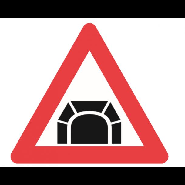 A44, advarselstavle 70 cm, Tunnel