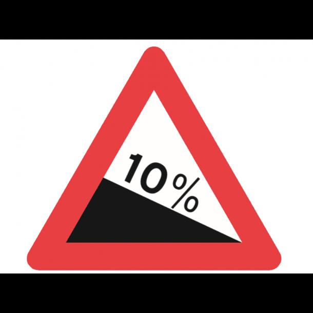 A46.1, advarselstavle 70 cm, Stejl nedkørsel