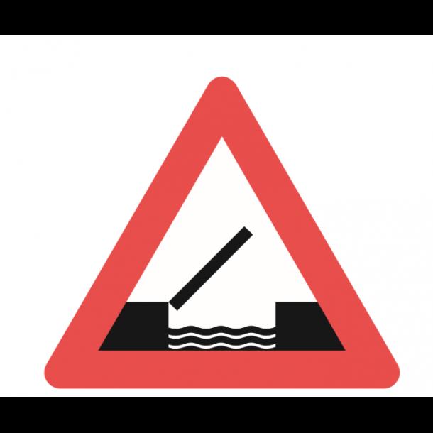 A91, advarselstavle 90 cm, Oplukkelig bro
