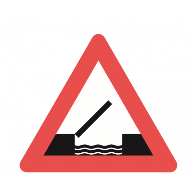 A91, advarselstavle 70 cm, Oplukkelig bro