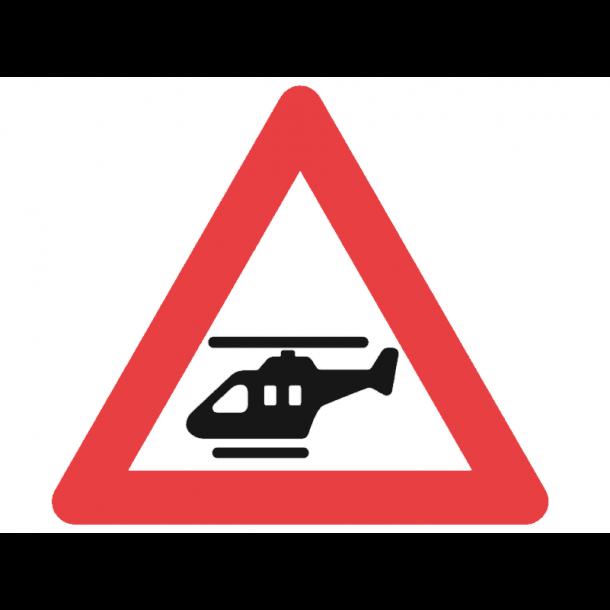 A97, advarselstavle 70 cm, Lavtgående helikopter
