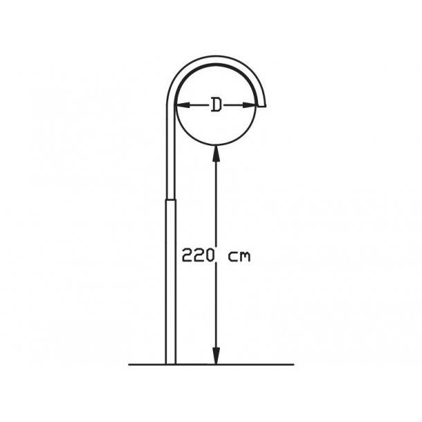 Buet stander med 1 ben - Ø70 cm